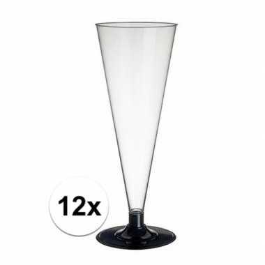 12 x champagne glazen transparant