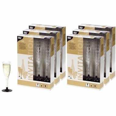 120 plastic champagne glazen