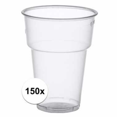 150x wegwerp bierglazen