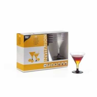 20 plastic cocktail glazen 100ml
