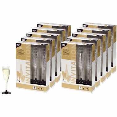 200 plastic champagne glazen