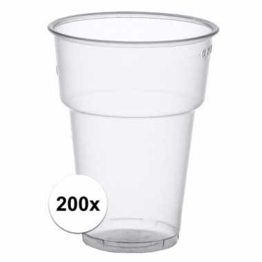 200x wegwerp bierglazen