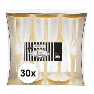 30x creme wijnglazen