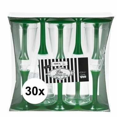 30x groene wijnglazen