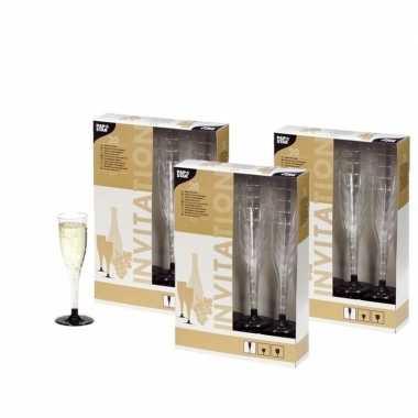 60 plastic champagne glazen