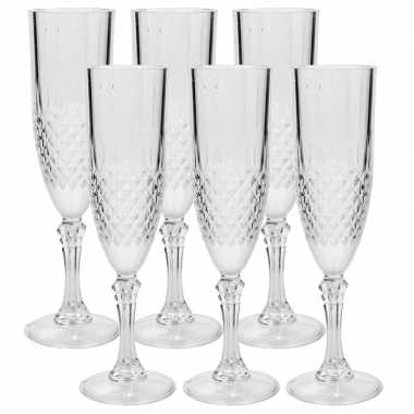 6x champagne glazen 200ml