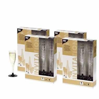 80 plastic champagne glazen