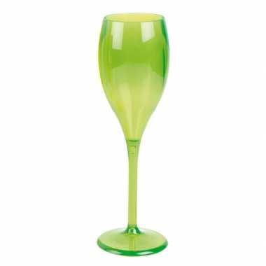 Champagne glas neon groen