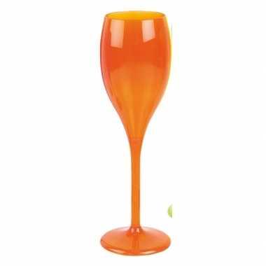 Champagne glas neon oranje