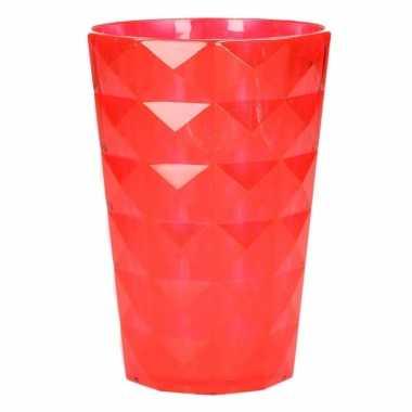 Drink beker plastic rood 350 ml