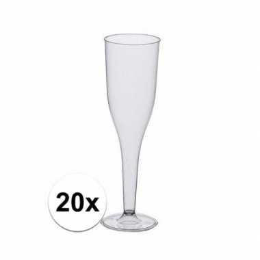 Feestelijke champagne glazen 20 stuks