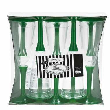Groene wijnglazen 10 stuks