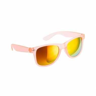 175bcdb6d137f7 Hippe zonnebril oranje met spiegelglazen