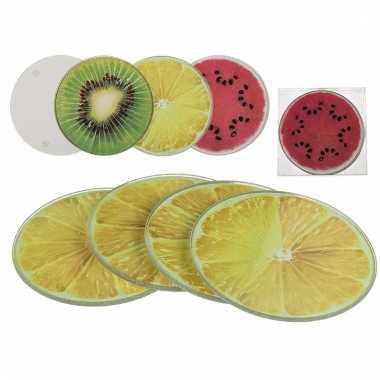 Onderzetters watermeloen 4 stuks