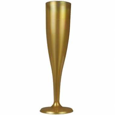 Party flutes goudkleurig 6 stuks