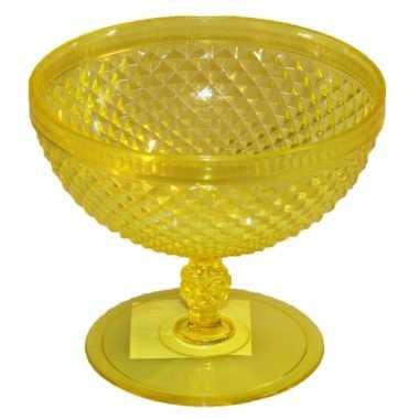 Plastic ijsbeker geel