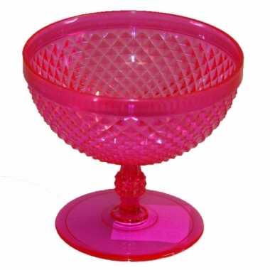 Plastic ijsbeker roze