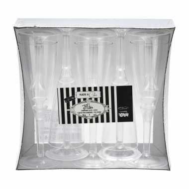 Transparante wijnglazen 10 stuks