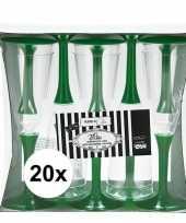 20x groene wijnglazen