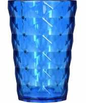Drink beker plastic blauw 350 ml